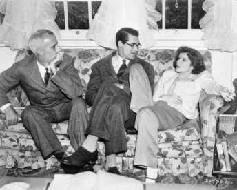 Hawks, Grant, and Hepburn on the set via: http://www.tcm.com/tcmdb/title/568/Bringing-Up-Baby/#