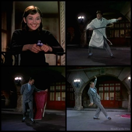 Funny Face Hepburn Astaire dance courtyard