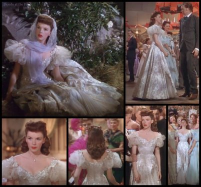 Harvey Girls Garland white gown