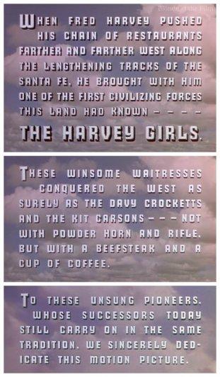 Harvey Girls opening
