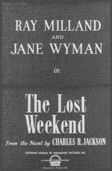 Lost Weekend titles
