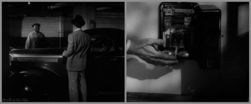 Double Indemnity MacMurray car phone