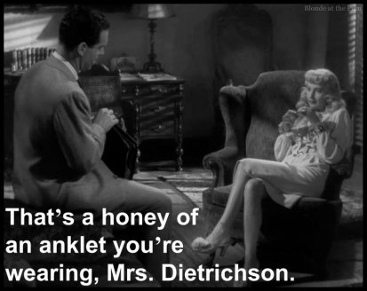 Double Indemnity MacMurray Stanwyck anklet