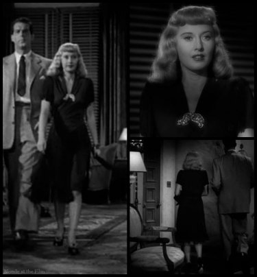 Double Indemnity Stanwyck black dress