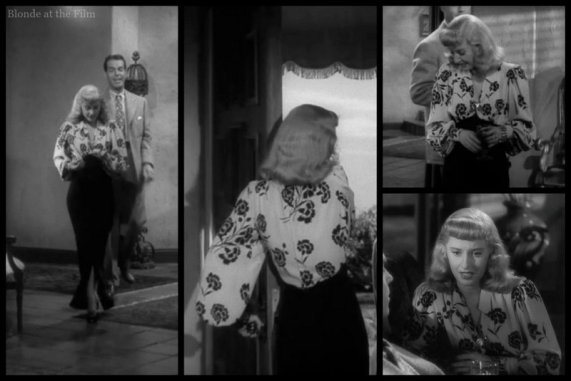 Double Indemnity Stanwyck flowered dress