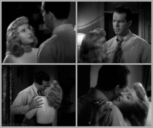 Double Indemnity Stanwyck MacMurray kiss