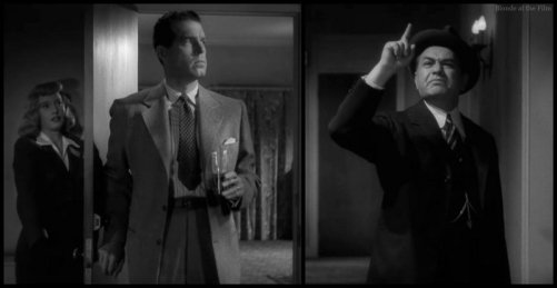 Double Indemnity Stanwyck MacMurray Robinson door