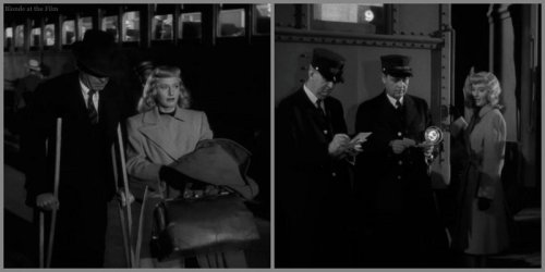 Double Indemnity Stanwyck MacMurray train