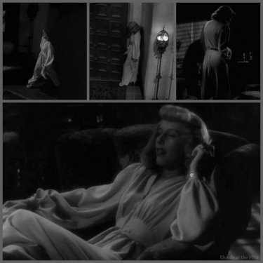 Double Indemnity Stanwyck white pantsuit