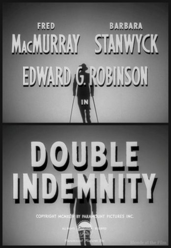 Double Indemnity titles
