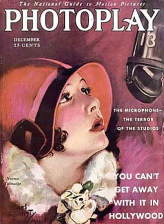 Norma Talmadge on the cover of Photoplay, December 1929, via: http://www.pophistorydig.com/topics/tag/mgm-history/