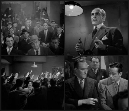 All Through the Night Veidt Demarest Bogart meeting