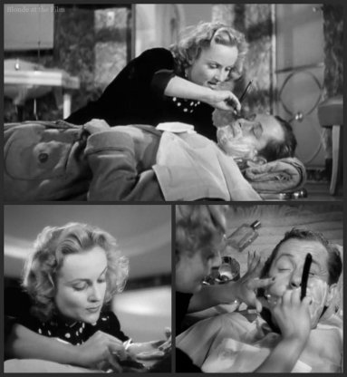 Mr and Mrs Smith Lombard Montgomery shaving