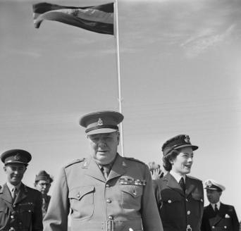 Winston Churchill and Sarah Churchill in Cairo, 1943 via: https://en.wikipedia.org/wiki/Sarah_Churchill_(actress)