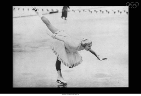 Henie at the 1936 Olympics via: http://www.olympic.org/multimedia-player/all-photos/1936/01/01/waaht049/