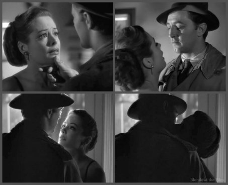 Out of the Past Greer Mitchum kiss