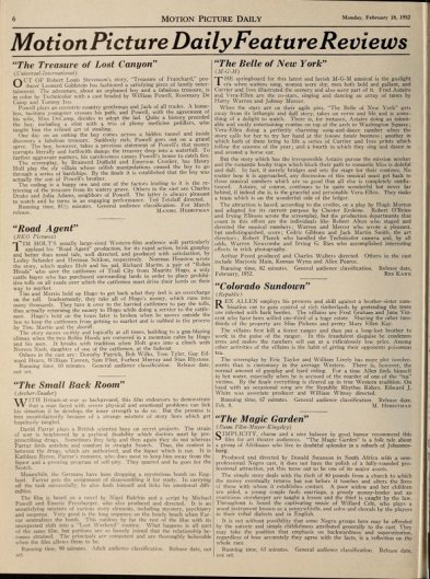 via: Motion Picture Daily, Reviews Feb 18, 1952. http://lantern.mediahist.org/catalog/motionpicturedai71unse_0250