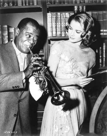High Society: Grace Kelly and Louis Armstrong