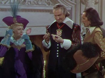 The Three Musketeers: Vincent Price and Lana Turner