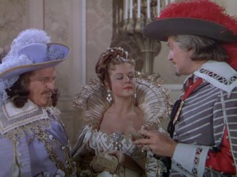 The Three Musketeers: Angela Lansbury, Henry Morgan, and Vincent Price