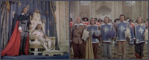 The Three Musketeers: Van Heflin, Gene Kelly, Gig Young, Vincent Price, Henry Morgan, and Robert Coote