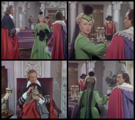 The Three Musketeers: Gene Kelly, Vincent Price, and Lana Turner