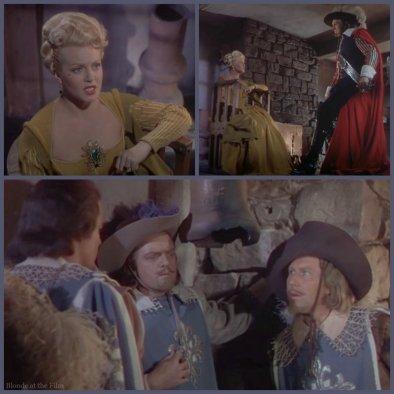 The Three Musketeers: Lana Turner, Vincent Price, and Van Helflin