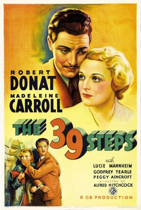 The 39 Steps: Robert Donat and Madeleine Carroll