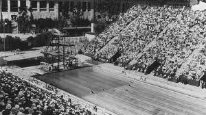 The Olympic Stadium Pool in 1932 via: https://www.swimmingworldmagazine.com/news/olympic-pools-where-are-they-now-part-one/