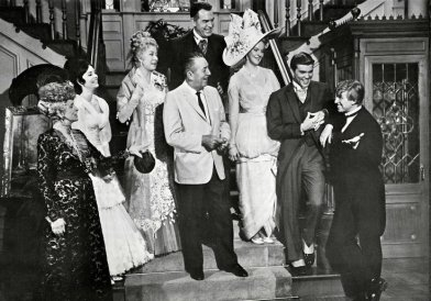 The Happiest Millionaire: the cast with Walt Disney