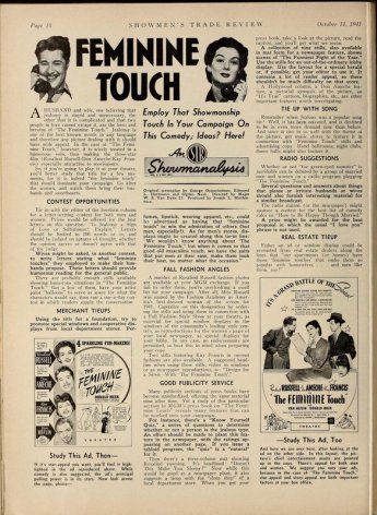Advertising strategies suggested in Showmen's Trade Review, October 11, 1941. via: http://lantern.mediahist.org/catalog/showmenstraderev35lewi_0064
