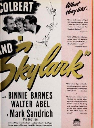 Skylark: Claudette Colbert, Brian Aherne, and Ray Milland
