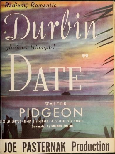 It's a Date: Deanna Durbin