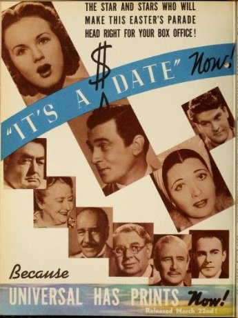 It's a Date: Deanna Durbin, Kay Francis, and Walter Pidgeon