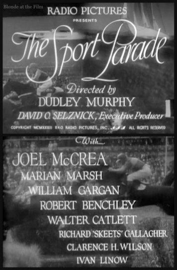 The Sport Parade: Joel McCrea, William Gargan, and Marian Marsh