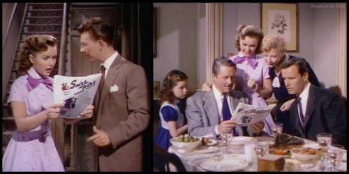 I Love Melvin: Debbie Reynolds, Una Merkel, Allyn Joslyn, and Donald O'Connor