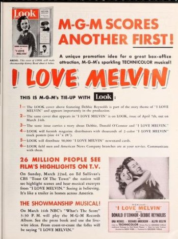 I Love Melvin: Debbie Reynolds and Donald O'Connor