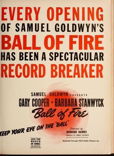 Ball of Fire: Barbara Stanwyck & Gary Cooper