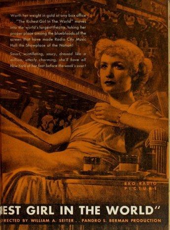 The Richest Girl in the World: Miriam Hopkins & Joel McCrea