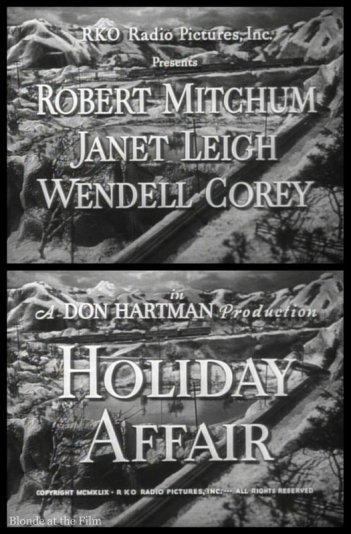 Holiday Affair: Janet Leigh, Robert Mitchum, & Wendell Corey