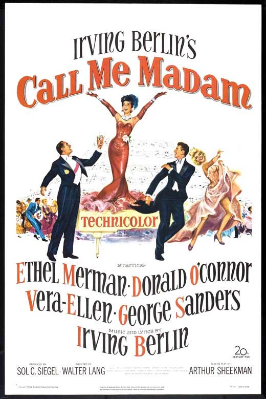 Via Cometoverhollywood 2014 03 24 Musical Monday Call Me Madam 1953 Unless Otherwise Noted All Images Are My Own