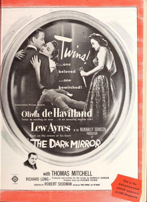 The Dark Mirror: Olivia de Havilland and Lew Ayres