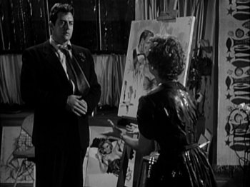 The Blue Gardenia: Raymond Burr and Ruth Storey