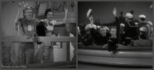 Follow the Fleet: Randolph Scott, Harriet Nelson, Ginger Rogers, and Fred Astaire