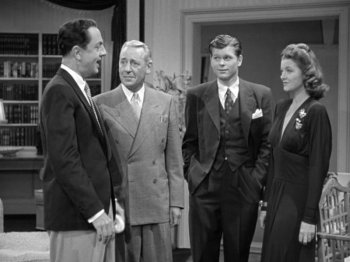 Shadow of the Thin Man: William Powell, Barry Nelson, Myrna Loy, and Henry O'Neill