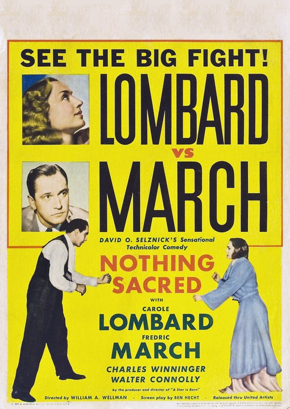 Nothing Sacred 1937 The Blonde At The Film